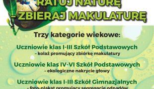 """Więcej o: Konkurs pt. : """"Ratuj Naturę – Zbieraj Makulaturę"""""""